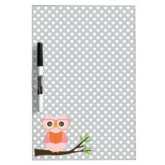 Cute Owl Reading Dry Erase Board