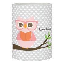 Cute Owl Reading Flameless Candle