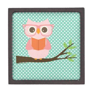 Cute Owl Reading Jewelry Box