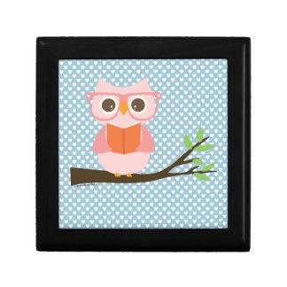 Cute Owl Reading Keepsake Box