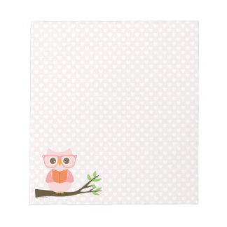 Cute Owl Reading Notepad