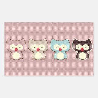 cute owl rectangular sticker
