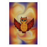 cute owl red postcards