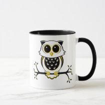 Cute Owl Ringer Mug