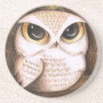 Cute Owl Sandstone Coaster