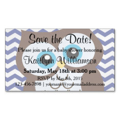 Cute Owl Save The Date Baby Shower Magnetic Card at Zazzle