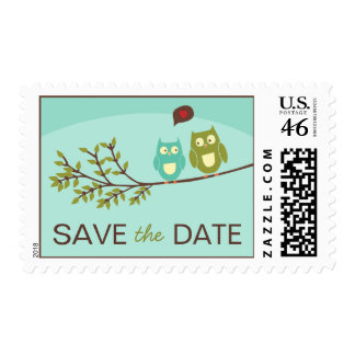 Cute Owl Save the Date Stamps