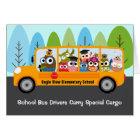 Cute Owl School Bus Driver Appreciation Thank You Card