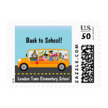 Cute Owl School Bus Driver Postage