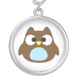 Cute Owl Silver Plated Necklace