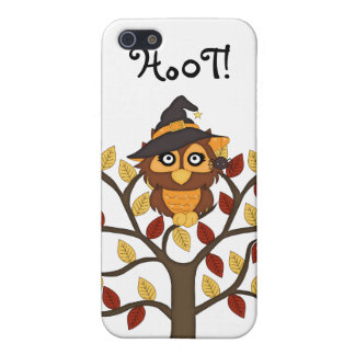 Cute Owl sitting in a Tree-Halloween/Fall Case For iPhone SE/5/5s