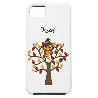 Cute Owl sitting in a Tree-Halloween/Fall iPhone SE/5/5s Case