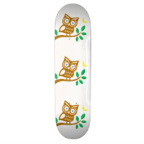 Cute Owl Skateboard Deck