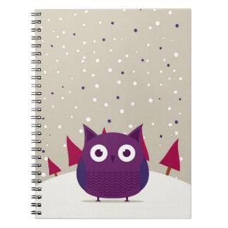 Cute owl spiral note book