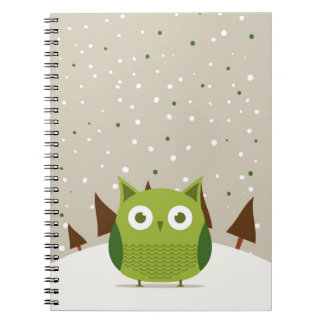 Cute owl spiral notebooks