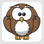 Cute Owl Square Stickers