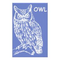 Cute Owl Stationery