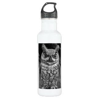 Cute Owl Statue Water Bottle
