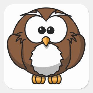 Cute Owl Square Stickers