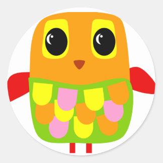 Cute Owl Round Sticker