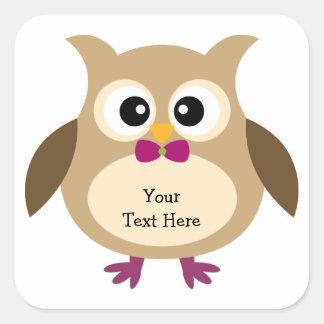 Cute Owl Stickers (customizable)