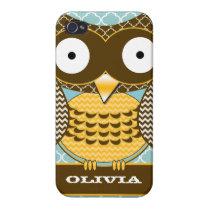 Cute Owl Swirls Moorish Trellis Pattern iPhone iPhone 4/4S Case