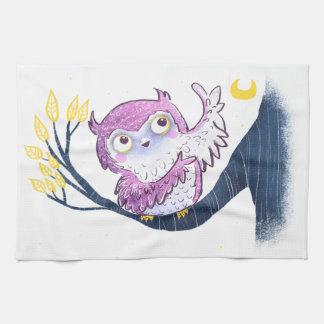 Cute Owl Tea Towel