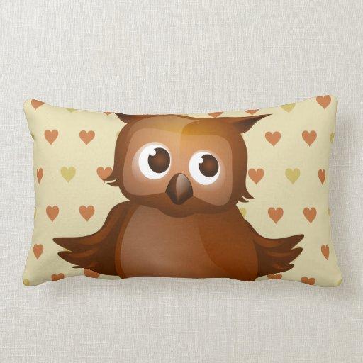 Cute Owl Throw Pillow Zazzle