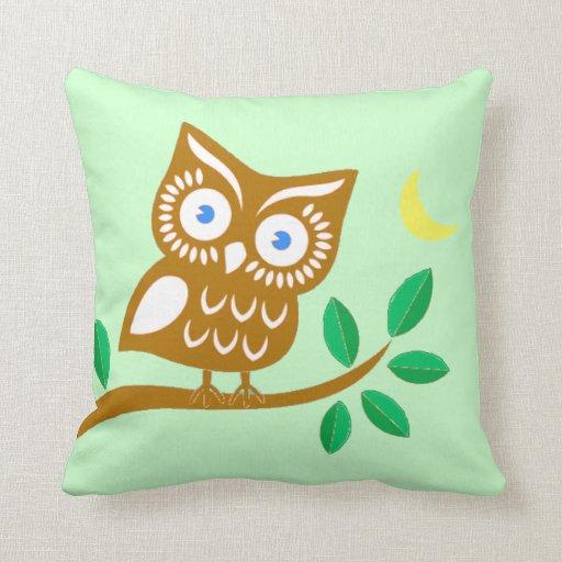 Throw Pillow Zazzle : Cute Owl Throw Pillow Zazzle