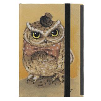 Cute Owl Vintage Dapper Gent Case For iPad Mini