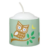 Cute Owl Votive Candle