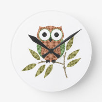 Cute Owl Wall Clock