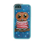 Cute Owl Wearing a Striped Jumper Painting Case For iPhone 5