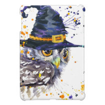 cute owl wearing witches hat iPad mini case
