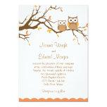 "Cute Owl Wedding Invitation 5"" X 7"" Invitation Card"