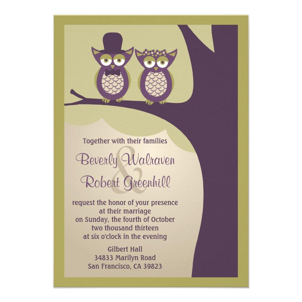 Cute Owl Wedding Invitations