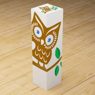 Cute Owl Wine Gift Box