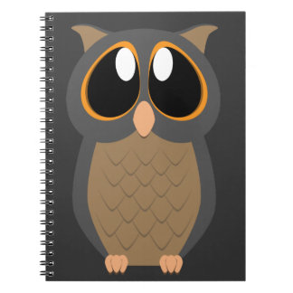 Cute Owl with Big Eyes Notebooks