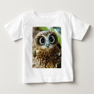 Cute Owl with Bubbly Eyes Baby T-Shirt