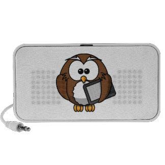 Cute Owl with Ereader Tablet Mini Speaker