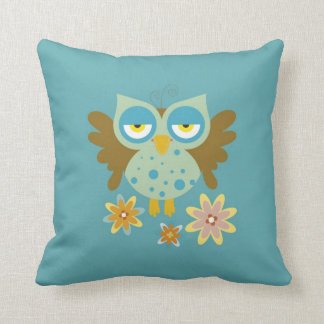 Cute owl with flowers pillows