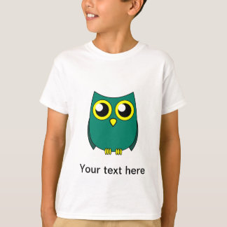 Cute Owl with Huge Yellow Eyes Kids T-shirt