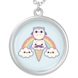 Cute Owl with Ice Cream Necklace