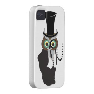 Cute Owl with Monocle Case-Mate iPhone 4 Covers