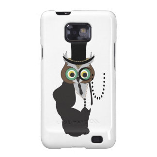 Cute Owl with Monocle Galaxy S2 Case