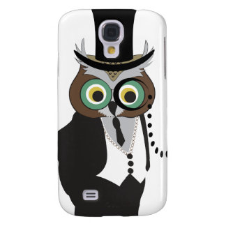 Cute Owl with Monocle Galaxy S4 Covers