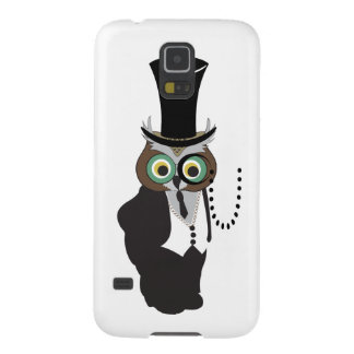 Cute Owl with Monocle Galaxy S5 Cases