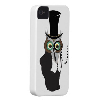 Cute Owl with Monocle iPhone 4 Case