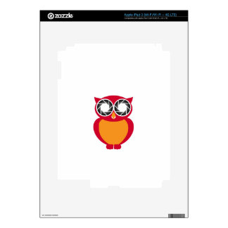 Cute Owl with Photography aperture eyes Decal For iPad 3