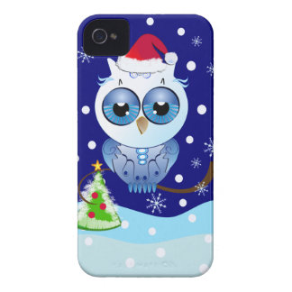 Cute Owl with Santa hat Christmas Blackberry case